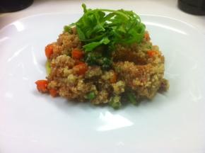 tomato quino salad w arugula