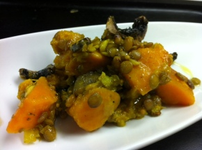 butternut squash with lentils