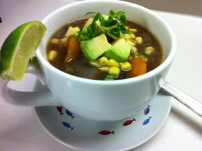 My version of Chelsea's black bean soup